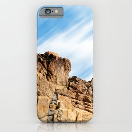 Rocky landscape in the coast of Brittany II iPhone Case