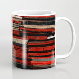 Stripe Layers in Red and Gray Coffee Mug