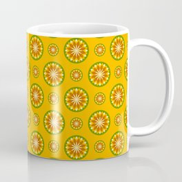 Orange Crush Retro Sunburst Print Seamless Pattern Coffee Mug