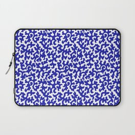 ACROSS TIME, ORNAMENTAL VINTAGE: BLUE and WHITE Laptop Sleeve