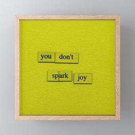 Spark Joy Framed Mini Art Print