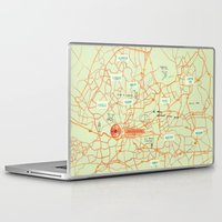 maps Laptop & iPad Skins featuring Maps - Johannesburg by DRIEHOEK