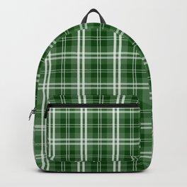 Christmas Tree Green Tartan Plaid Check Backpack