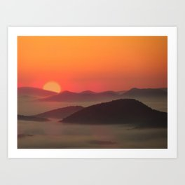 Sunrise Over Blue Ridge Mountains Art Print