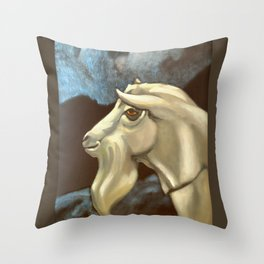 Night of The Billy Goat Throw Pillow