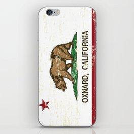 Oxnard California Republic Flag Distressed iPhone Skin