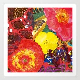 Flowers and Butterflies Art Print