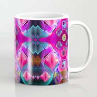 diamonds Mugs featuring Diamonds by thea walstra