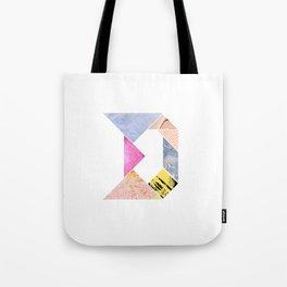 Tangram Alphabet - D Tote Bag