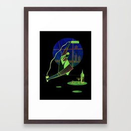 Pour Bar Framed Art Print