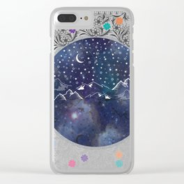 Beautiful starry night Clear iPhone Case