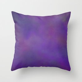 Abstract Soft Watercolor Gradient Ombre Blend 14 Dark Purple and Light Purple Throw Pillow