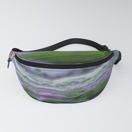 Purple and Green Agate Fanny Pack