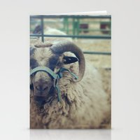 ram Stationery Cards featuring Ram by Girl with a Hook