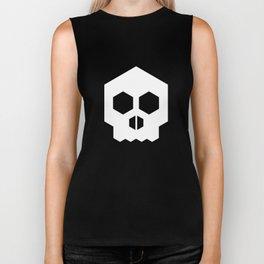 hex geometric halloween skull Biker Tank
