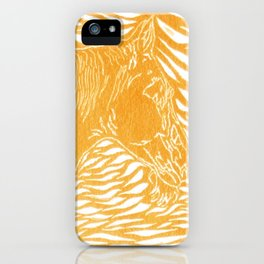 Abstract Silver iPhone Case
