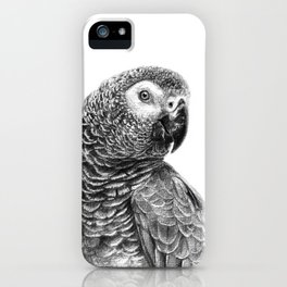 Gray Parot G083 iPhone Case