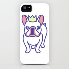 King Louie the Frenchie Cartoon iPhone Case