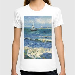 Seascape near Les Saintes-Maries-de-la-Mer by Vincent van Gogh T-shirt