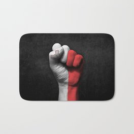 Maltese Flag on a Raised Clenched Fist Bath Mat