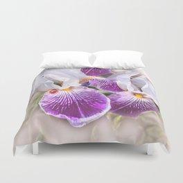 Gladiolus and ladybug Duvet Cover