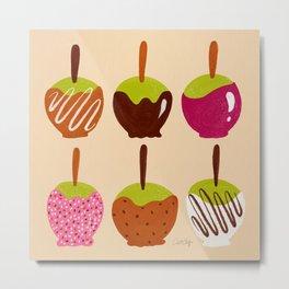 Caramel Apples – Magenta Metal Print