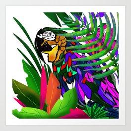 Parot digital illustration Art Print