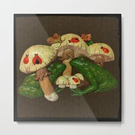 Toads & Toadstools Metal Print