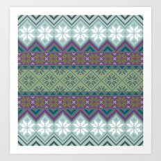 Pattern Norwegian Art Print