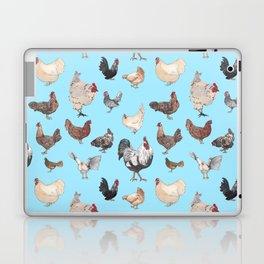 Chicken Happy (blue) Laptop & iPad Skin