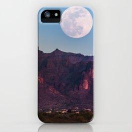 Super Blue Moon over Arizona #society6 #decor #buyart iPhone Case