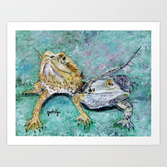 Bearded Dragons Art Print