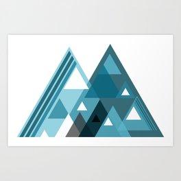 digital triangles Art Print