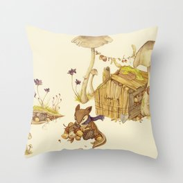 Harvey the Greedy Chipmunk Throw Pillow