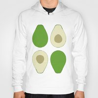 avocado Hoodies featuring Avocado by Silja Rouvinen