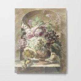 Flowers, Pieter van Loo, 1745 - 1784 Metal Print