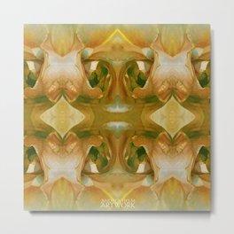 Floribunda Rose - Sun Bright Yellow Metal Print