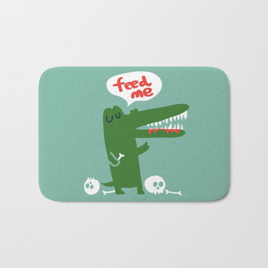 Hungry Hungry Alligator Bath Mat