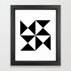Geometric Pattern #45 (black white triangles) Framed Art Print