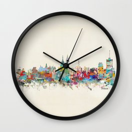 Ottawa Ontario skyline Wall Clock