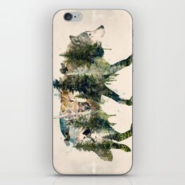 Wolf is the Pride of Nature iPhone Skin