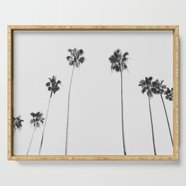 Black & White Palms Serving Tray