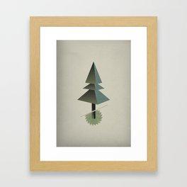 Triangle Tree Framed Art Print
