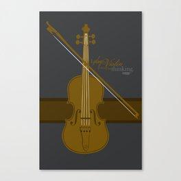 Play the Violin Canvas Print