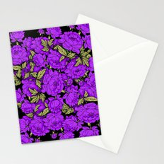 Purple Peonies Stationery Cards