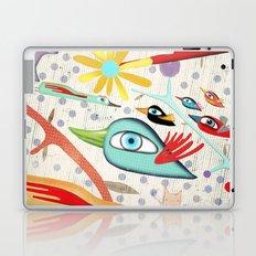 Cat and Birds Illustration 2016 Laptop & iPad Skin