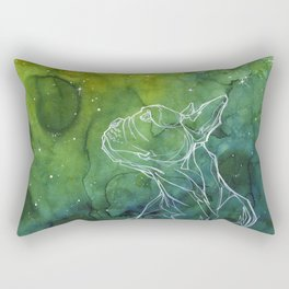 Space dog Rectangular Pillow