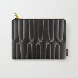 Industrial Waves | Metal Coils Abstract | Contemporary Art Carry-All Pouch