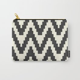 Twine in Black and White Carry-All Pouch
