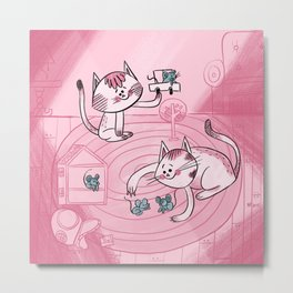 Cats and Mice Metal Print